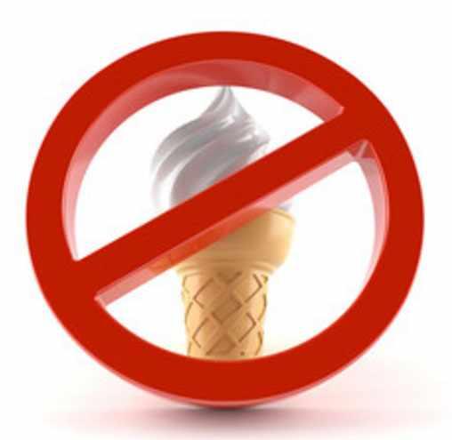 Знак запрета на мороженом