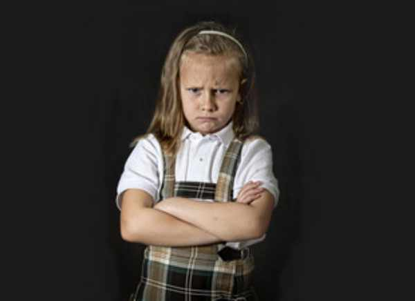 Сердитая девочка