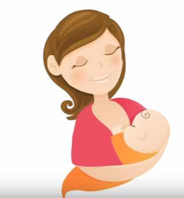 Малыш сосет грудь
