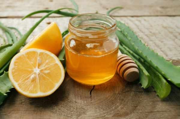Мед, лимон, алоэ
