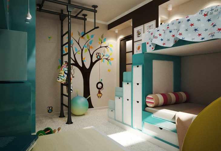 Универсальные фотообои в детскую комнату