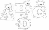 Раскраски для обучения английскому алфавиту