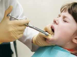 Анестезия полости рта у ребенка