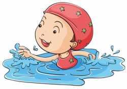 Картинка ребенок в бассейне