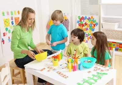 Творческие занятия в английском частном детском саду