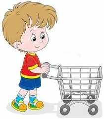 Ребенок с продуктовой карзиной