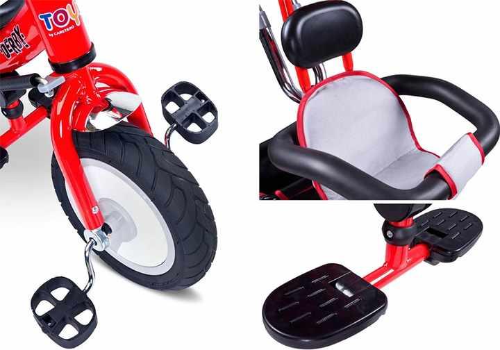 Колесо, кресло и педали в трехколесном велосипеде