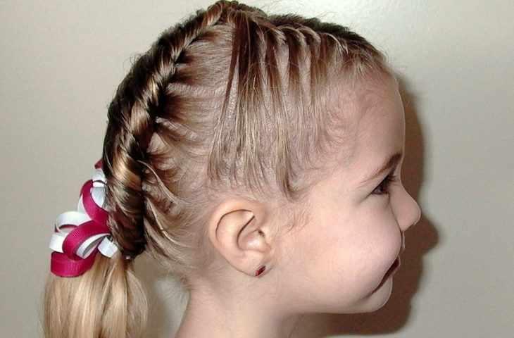 Прическа косички для девочки