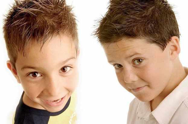 Два мальчика с прическами