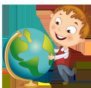 Школьник с глобусом картинка