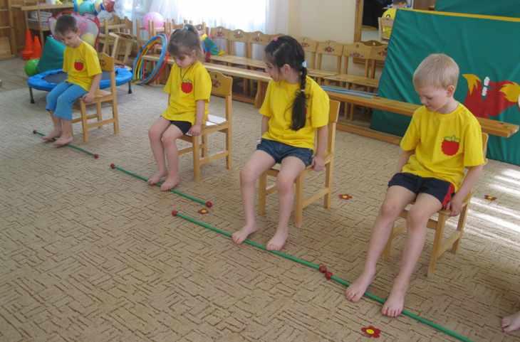 Упражнения против плоскостопия в детском саду