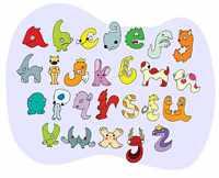Буквы-животные для обучения английскому алфавиту