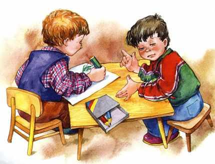 Картинка дети рисуют за столом