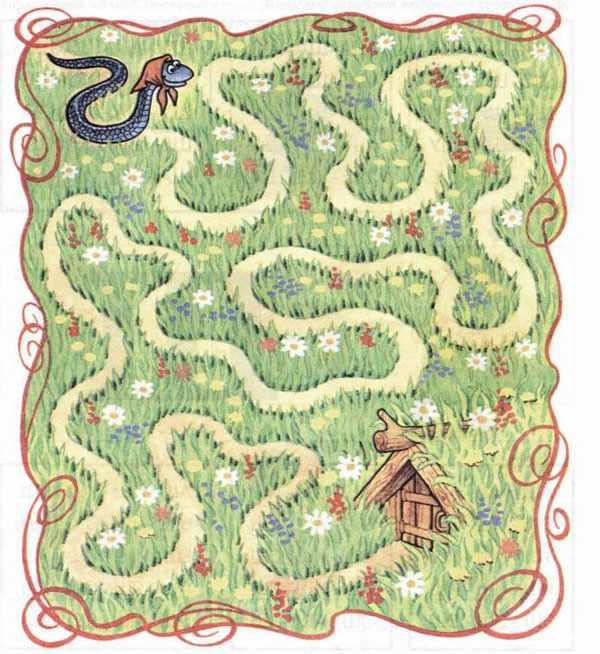 Как змейки найти домик головоломка