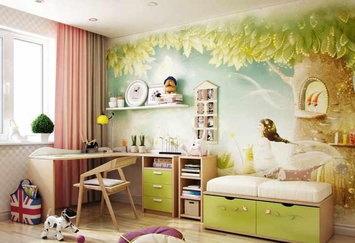 Фотообои в детскую комнату девочке